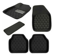 5x Universal Car Floor Mat Front & Rear Black Rubber Leather All Weather Durable