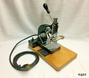 Kingsley Machine  -  M-50  One Line Machine  -  Hot Foil Stamping Machine