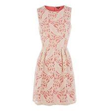 Warehouse fluro lined lace dress 16