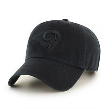 f9234639e Los Angeles Rams La 47 BRAND NFL Strapback Adjustable Dad Cap Hat Clean up  Black