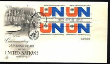 US 1970 United Nations (1419) . Art Craft Cachet FDC . Plate Block