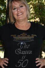 The Queen is 50 birthday shirt XS S M L XL XXL 1X 2X 3X 4X 5X 50th birthday