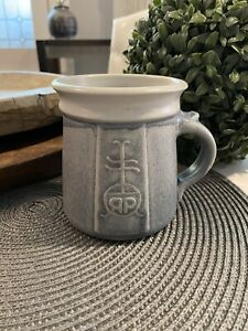 Earthenware Pottery Roycroft RR Insignia Logo Mug Excellent