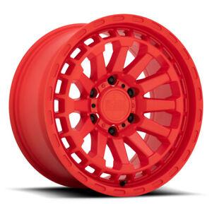 17 Inch Red Wheels Rims Black Rhino RAID Jeep Wrangler Sahara Rubicon Set of 4