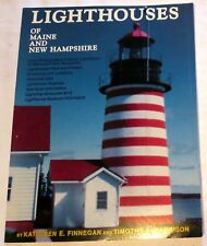 1991 Lighthouses of Maine & New Hampshire by Finnegan & Harrison Softcover Book