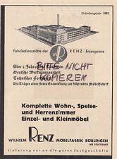Férence, Publicité 1937, Wilhelm rence meubles-usine