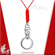 DYRBERG/KERN of Denmark SARISHA Large Swarovski Crystal Circle Red Silk Necklace