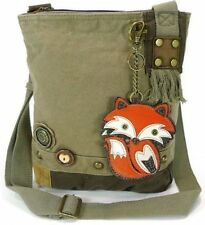 Chala Purse Handbag Crossbody Canvas with Key Chain Tote Bag Foxy Fox