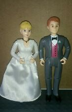 Loving Family Fisher Price BRIDE & GROOM Doll Figures Vintage 1999