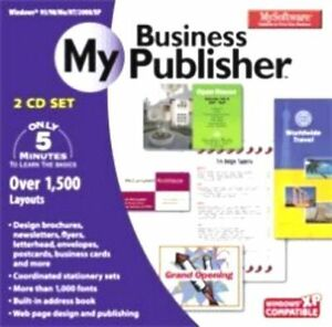 MY SOFTWARE MY BUSINESS PUBLISHER  PC  Vista Win 7 8 10  Easy to Use  Brand New