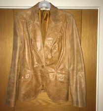 Zara Tan Leather Blazer M