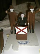 Fred Webster  FOLK ART  outsider artist SWEET HOME ALABAMA wood sculpture