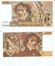 Gertbrolen 100 FRANCS EUGENE  DELACROIX de 1984   D.75 Billet N° 1853726989