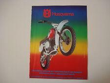 advertising Pubblicità 1976 MOTO HUSQVARNA 250 CROSS