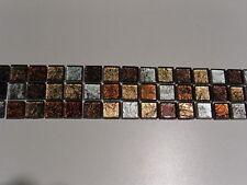 Bordüren glas fliesen mosaik EFFEKT rot braun silber