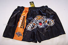 Wests Tigers NRL Mens Black Satin Boxer Shorts Size L New