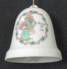 Precious Moments Bundles Of Joy Porcelain Xmas Holiday Bell Free Usa Shipping
