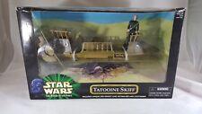 Disney Star Wars Power of the Force Tatooine Skiff w/ Jedi Luke Hasbro 1999 New