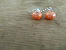 Pumpkin  drop earrings. Handmade