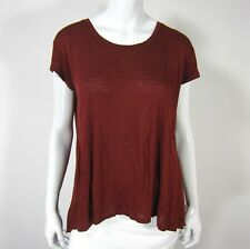 MOSSIMO SUPPLY CO CAP SLEEVE HIGH LOW SCOOP NECKLINE BLOUSE TOP SIZE XS BROWN
