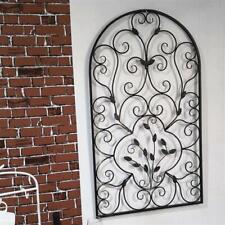 """New listing 41"""" Semi-Circular Retro Decor Spanish Arch Wall Art Leaf Shape Iron Ornament"""