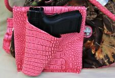 Creative Conceal Purse Holster for Smith & Wesson 640 Revolver PINK GATOR RH REV