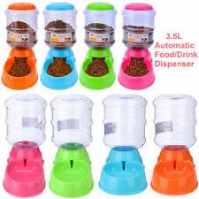 3.5L Pet Dog Cat Automatic Dispenser Feeder Bowl Bottle Food Device Dish