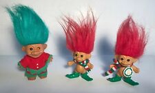 Russ Christmas Trolls 3� & 3.5� inch Lot of 3 Elf And Merry Christmas toys dolls