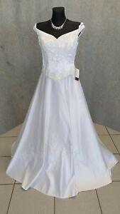 💜Hochwertiges Brautkleid Lohrengel Pailletten Perlen Gr. 36 NEU m. Etikett 💜