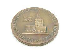 VTG The Travelers Insurance 1964 Bronze Medal 100th Anniversary Medallic Art Co.