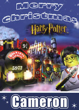 HARRY POTTER LEGO Personalised Christmas Card - Add you own name
