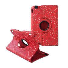 Luxury 360 Rotate Diamond Crystal Cover Leather Case Stand for Kindle Fire HDX 7