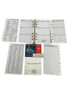 2022 Week Calendar A-6, 1 week=2 pages English Language  Inserts for Filofax (57