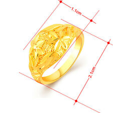 Fashion Accessories 24K Gold Plated Smart Petal Women Wedding Ring GR055