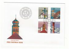 SWITZERLAND HELVETIA 1996 PRO PATRIA HERITAGE SET OF 4 OFFICIAL FIRST DAY COVER