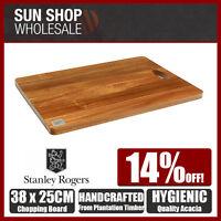 100% Genuine! STANLEY ROGERS Medium Acacia Chopping Board 38x25cm! RRP $34.99!