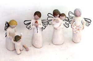 Collection of x4 WILLOW TREE Collectable Decorative Ornaments - USED - W55