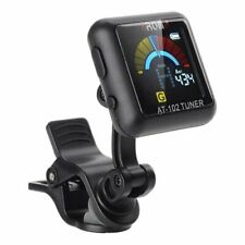 Aroma AT102 Digital Clip-on Tuner, Chromatic, Guitar, Bass, Ukulele, Violin