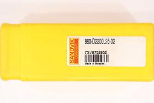 22mm SANDVIK 880-D2200L25-02 Indexable Insert Drill U-Drill CNC Milling Turning