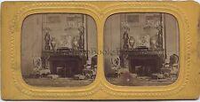 Salon de la princesse Mathilde Compiègne France Vintage stereo albumen ca 1860