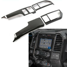 4pcs Carbon Fiber Console Center Dashboard Cover Frame For Ford F150 2015-2018