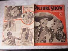 February 1941, PICTURE SHOW, Cesar Romero, Ann Sheridan, Virginia Bruce.