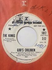 "RARE KINKS PROMO 45/ ""GOD'S CHILDREN"" / ""THE WAY LOVE USED TO BE"" NEAR MINT HEAR"