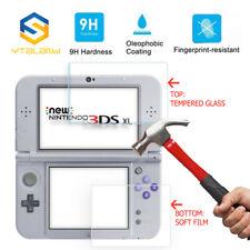 Top + Vidrio Templado Inferior Cubierta Protector de pantalla para Nintendo 3DS XL Nuevo 3DS XL