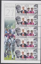 Falkland islands: 2003 21st anniversaire du prince william sheetlet sg 952a x 5 neuf sans charnière