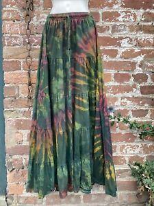 Ladies long skirt tie dye, hippie/gypsy/boho/festival free size