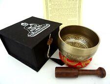 Tibetan Buddhism Meditation Singing Bowl Gift Set (Bronze)