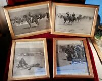 Set Of 6 Hardwood Framed Frederick Remington Western Themed Prints Cavalry