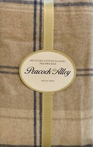 Peacock Alley Upcycled Cotton Plaid Flannel Standard Pillowcases grey, brown