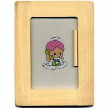 "DARICE WOOD FRAME - UNFINISHED - HOLDS ONE 4"" x 6"" PHOTO - SMALL DOWEL TO STAND"